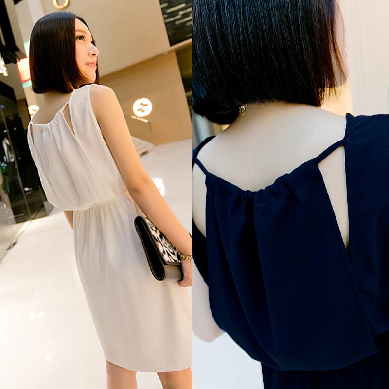 Small fashion women's 2013 summer brief sleeveless one-piece dress female 0604