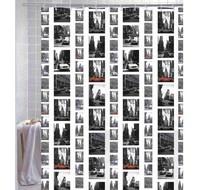 Free shipping Retro green waterproof shower curtain EVA York Street