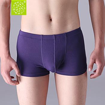 Bamboo fibre male panties mid waist boxer panties summer hydroscopic antibiotic