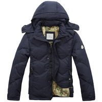 2013  new arrival famous brand men's winter down coat short design thickening down outerwear 100% duck winter jacket for men