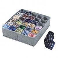 30 CellS Bamboo Charcoal Underwear Ties Socks Drawer Closet Organizer Storage Box