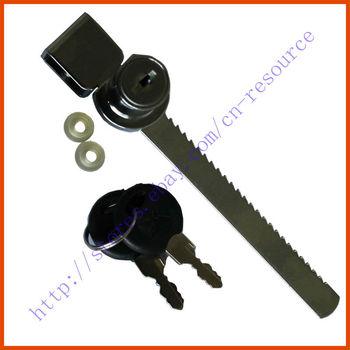 Cabinet Drawer Display Case Showcase Sliding Glass Push Door Ratchet Lock 2 Keys