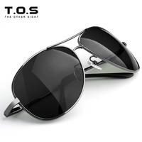 Tos male sunglasses polarized sunglasses Men large sunglasses glasses