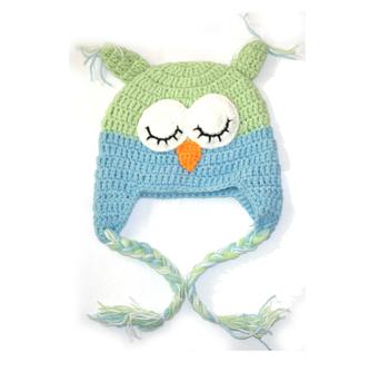1pc Infant Kid Baby Girl Boy Crochet Knit Cotton Handmade Beanie Owl Hat Cap