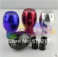 1pcs 4color chosen universal car personality modification gear stick metal car manual header gear knob MT AT gear shift knob