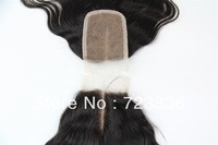 Brazilian hair 3.5*4 middle parting lace closure