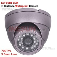 700TV Line 1/3 SONY EFFIO CCD 3.6mm Lens CCTV Security Indoor IR Dome Camera free shipping