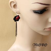 Temptation series black lace gothic tassel long earrings drop earrings elegant women jewelry 008