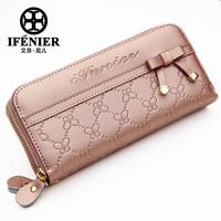 IFENIER 2013 women's wallet cowhide clutch double zipper wallet female long design female wallet