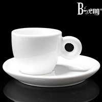 Beng cup white espresso cup aroma small coffee cup petty bourgeoisie set 50ml