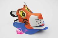 free shipping 10pcs/lot Eva hat sunbonnet parent-child cartoon hair accessory zodiac hair accessory animal hat tiger hat