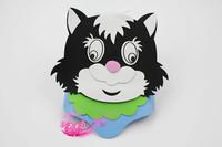 free shipping 10pcs/lot Eva hat cartoon sunbonnet parent-child props cap animal hair accessory cartoon hat - cat hat