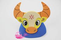 free shipping 10pcs/lot Eva hat cartoon sunbonnet parent-child props cap animal hair accessory cartoon hat - daniu hat