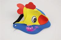 free shipping 10pcs/lot Eva hat cartoon sunbonnet parent-child props cap animal hair accessory cartoon hat - chickens hat