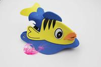 free shipping 10pcs/lot Eva hat cartoon sunbonnet parent-child props cap animal hair accessory cartoon hat dollarfish - hat