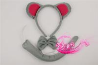 Cartoon headband hair bands child hair accessory animal piece set mouse headband bow tie mouse piece set