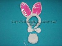 Cartoon headband hair bands child hair accessory child hair bands animal piece set hair accessory ab cloth rabbit piece set