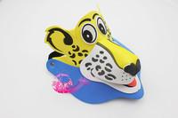 free shipping 10pcs/lot Eva hat cartoon sunbonnet parent-child props cap animal hair accessory cartoon hat - leopard hat