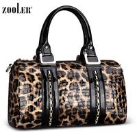 New arrival leopard print women's handbag women's bags boutique bags cowhide cross-body handbag 2013 women's handbag