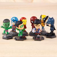 Free shipping!The Avengers Superman ironman spiderman Hulk PVC action figure toys 8 pcs/set for kids
