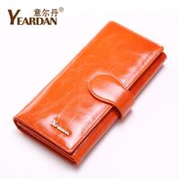 2013 women's wallet female long design genuine leather wallet