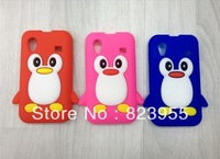DHL Free shipping 3D Cartoon Penguin Pattern Soft Silicone Case for Samsung Galaxy Ace S5830 50pcs/lot