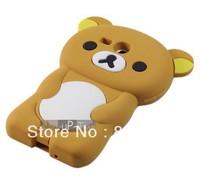 DHL Free shipping HOT SELLING 3D Cute Teddy Bear Case Cover Skin for Samsung Galaxy S III mini S3 mini I8190 50pcs/lot