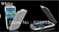 Free shipping New arrival Crocodile grain flip hard back case cover for Samsung Galaxy S3 Slll Mini I8190 5pcs/lot