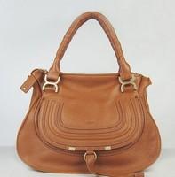 2013 Fashion Branded  Leather Women Handbag/ Women Designer Marcie Handbag Black  /EMS free shipping