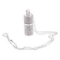 Jewelry Crystal with Necklace USB Flash Drive 2GB 4GB 8GB 16GB 32GB 100% full capacity