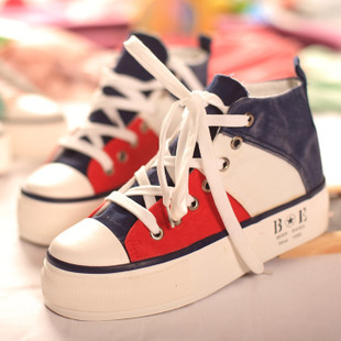 Spring casual color belle is older block decoration high platform shoes canvas shoes women's 99 - 231(China (Mainland))