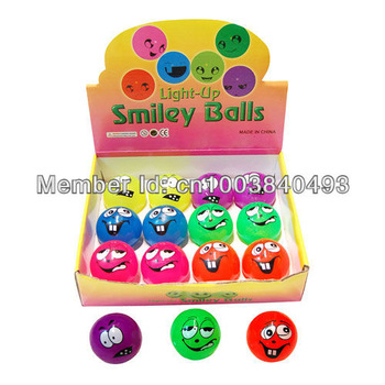 Happy Time Gift  Store  Halloween Crazy soft rubber light up elastic ball  MOQ 12pcs