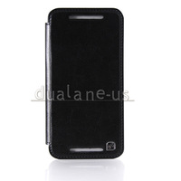 HOCO Duke Retro Protective PU Leather Folder Flip Case Cover Skin for HTC ONE M7 Free Shipping Black Colour