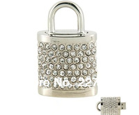 Jewelry Crystal Lock USB Flash Drive 8GB 16GB 32GB 64GB 100% full capacity