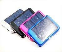 Free shipping Bottom price 5000mah Solar Panel Battery Charger USB for iPhone/iPad Digital camera/PDA/PSP/GPS 5pcs/lot .