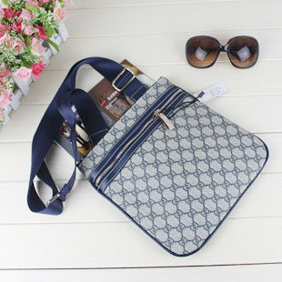 Man bag women's handbag small bags pvc blue black messenger bag shoulder bag 20153(China (Mainland))