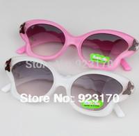 2014 Free shipping wholesale cheap fashion child butterfly anti-uv sunglasses