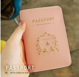 Travel Korea brief elegant lovers design passport holder passport cover free shipping