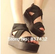 2013 summer silks and satins elegant sandals female platform open toe shoe women shoes gossip wedges slippers free shipping