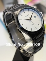 1pcs curren Business Quartz Watch fashion date sport man watch Stainless men's Wristwatch (2 Colors)