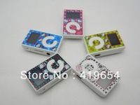 10pcs/lot Free shipping Hello Kitty Mini Clip MP3 Player with LCD Screen , With earphone+usb cable+retail packaging