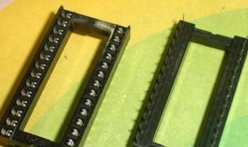 HOT 50pcs 28 PIN 28PIN DIP-28 IC SOCKET WIDE, Con tor Adaptor Solder Type/Free RM