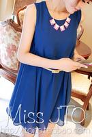 Summer new arrival 2013 women's elegant sleeveless slim one-piece dress tank dress
