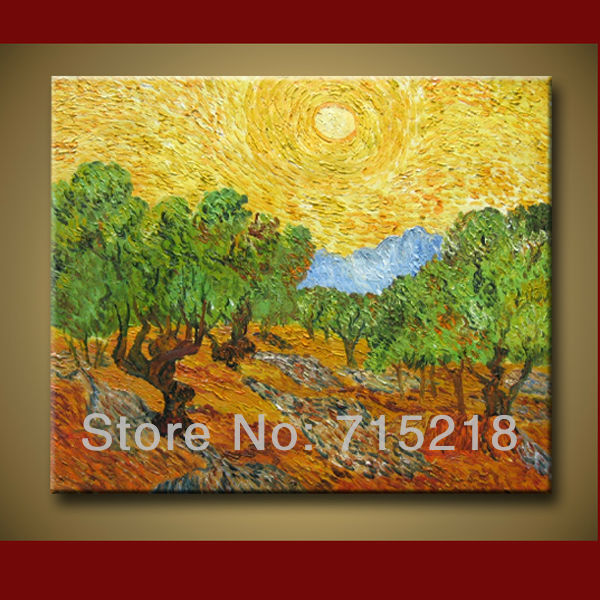 Free Shipping Quality Guaranteed Van Gogh Paintings The mulberry Tree on Canvas Hand Painted Wall Art for Home Decoration(China (Mainland))