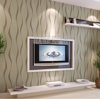 Modern brief tv background wallpaper pvc embossed wallpaper abstract wallpaper curve