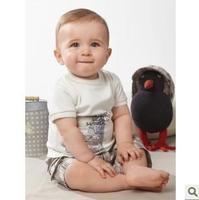 2013 Children's Clothing  boys Clothing Sets baby  kids boys short  sleeves clothes suts (hat+t shirt+short)3pcs,5sets/lot