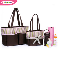 Free shipping 3colors 5pcs/set nappy bag of dicotyledons set shoulder bag  mother bag