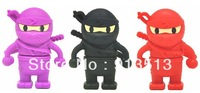 Best selling Ninja shape usb flash drive disk stick 2GB 4GB 8GB free shipping accept mix order