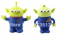 Alien shape usb flash drive disk memory 2GB 4GB 8GB free shipping from Toy story