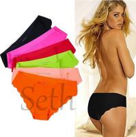 Hot Women Brief Boxer ShortsTop Sexy Ladies Underpants Comfortable seamless Thin  Women Underwear Panties 3pcs/lot Free shipping